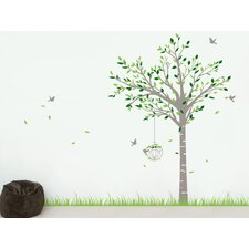 Spring Tree and Grass Wall Decal