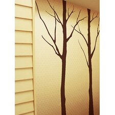 Two Big Winter Cool Tree Wall Decal