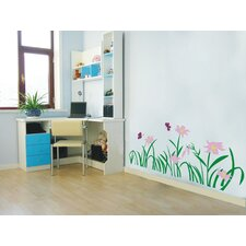Flowers and Grass Wall Decal