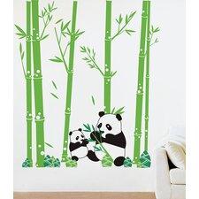 Pandas Love Bamboo Wall Decal