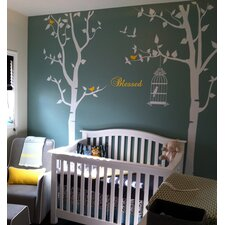 Nursery Trees with Bless Wall Decal