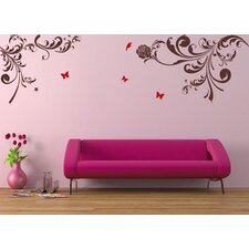 Beautiful Flower Vines Wall Decal