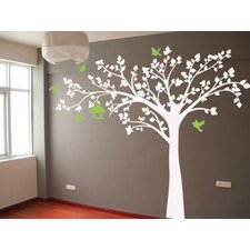Big Tree with Love Birds Wall Decal