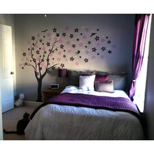 Drifting Flowers and Birds Wall Mural