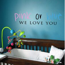 Pink or Blue Wall Decal