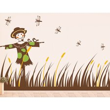 Scarecrow and Grass Wall Decal