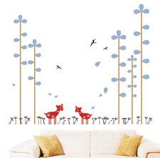 Spotted Deers in The Forest Wall Decal
