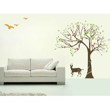 Big Tree and Antelope Wall Decal