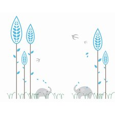 Elephant and Little Forest Wall Decal
