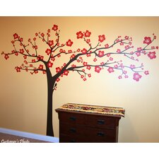 Floral Super Big Tree Wall Decal