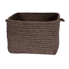Chunky Natural Wool Square Basket