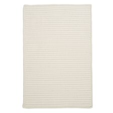 Simply Home Solid White Area Rug