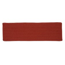 Simply Home Solid Red Stair Tread Set (Set of 13)