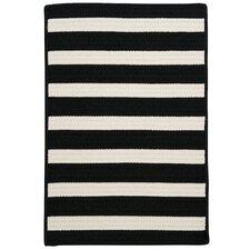 Stripe It Black & White Indoor/Outdoor Area Rug