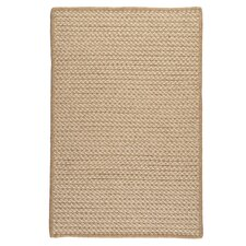 Natural Wool Houndstooth Braided Tea Area Rug