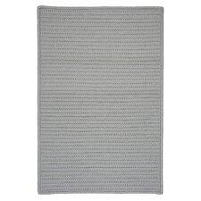 Simply Home Gray Solid Shadow Indoor/Outdoor Area Rug