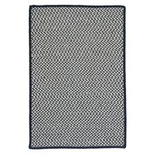 Outdoor Houndstooth Tweed Navy Rug