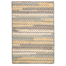 Print Party Rects Yellow Area Rug