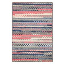 Print Party Rects Blue Area Rug
