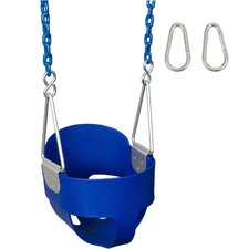 Highback Full Bucket Swing Seat with Coated Chain