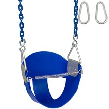 Highback Half Bucket Swing Seat with Coated Chain