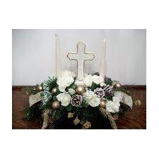 Christmas Religious Candle Centerpiece