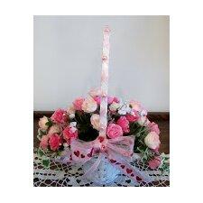 Beauty Sweetheart Roses in Mini Princess Basket (Set of 3)
