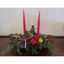 Christmas Red Candle Centerpiece