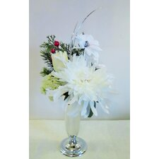 Christmas Cream and White Vase Arrangement
