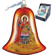Holiday Saint Michael Bell Glass Ornament