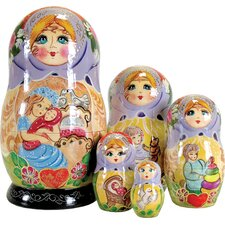 Russian 5 Piece Mother Love Nested Doll Set