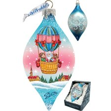 Holiday LED Air Balloon Glass Ornament