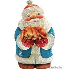 Derevo Santa Dog Figurine