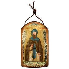 Inspirational Icon Saint Anthony Wooden Ornament