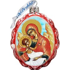 Keepsake Virgin Mary with Jesus Glass Ornament