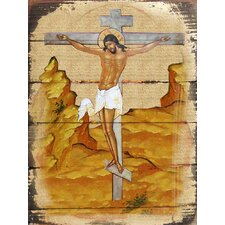Inspirational Icon Crucifixion Original Painting