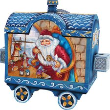 Derevo Holiday Express Santa and Surprise Train Box