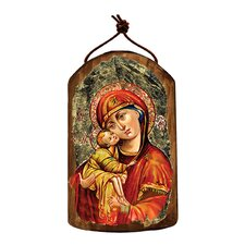 Inspirational Icon Holy Virgin Mary Wooden Ornament