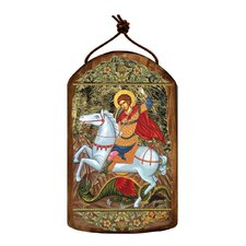 Inspirational Icon Saint George Wooden Ornament