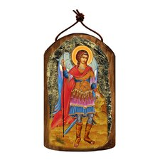Inspirational Icon Saint Michael The Archangel Wooden Ornament
