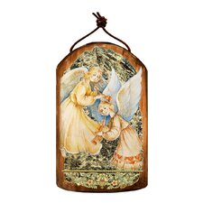 Inspirational Icon Angels Watching Over You Wooden Ornament