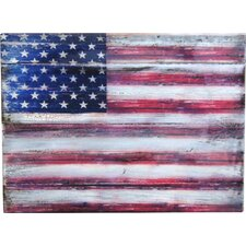 Inspirational Icon American Flag Painting Print