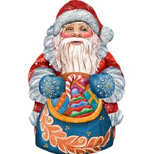 Decorative Gift Bag Santa Scenic Ornament
