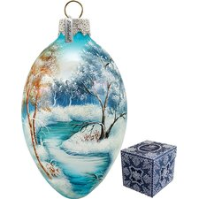 Winter Forest Egg Ornament