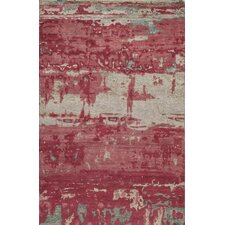 Terra Hand-KnottedRed Area Rug