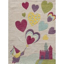 Lil Mo Whimsy Hand-Tufted Pink Area Rug