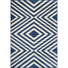 Baja Navy & White Indoor/Outdoor Area Rug