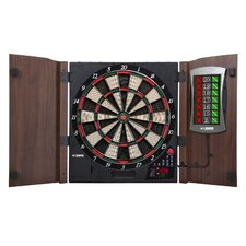 Meridian 3.0 Electronic Dartboard with XL Cricket Cabinet Set