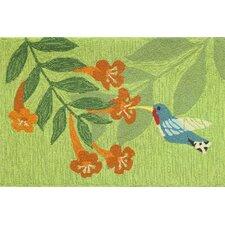 Hummingbird Nectar Green Area Rug