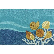 Shell Turquoise Area Rug